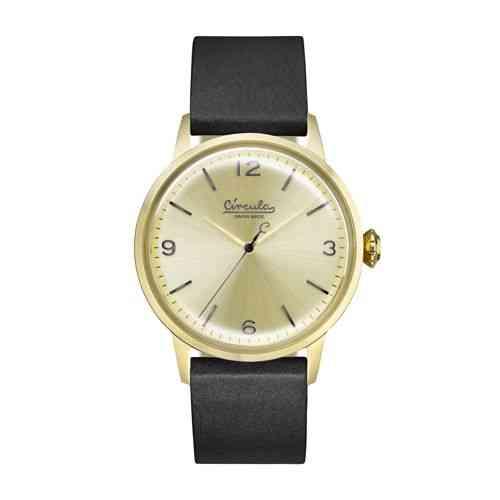 Armbanduhr im Vintage-Design - Swiss Made, Edelstahl, Lederband