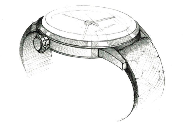 Vintage inspired, retro watch in elegant, minimalistic design