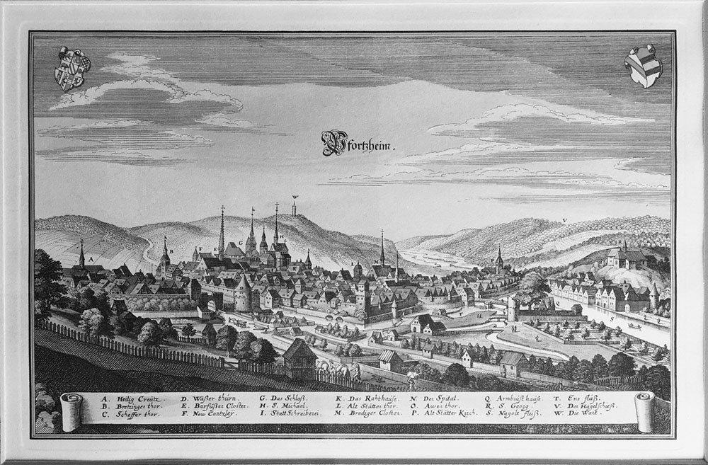 Kuperstich Pforzheim 1643